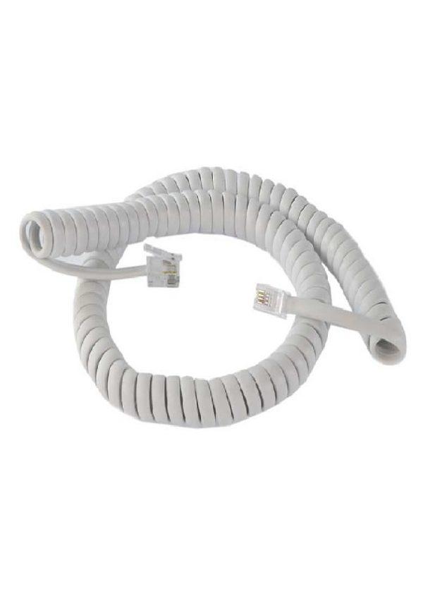 بند گوشی سیم پیچی فنری شکل است که بین گوشی تلفن و مخاطب استفاده می شود .