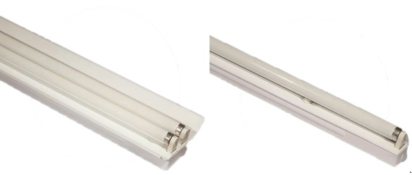 قاب مهتابی تکی و دوتایی برای لامپ های مهتابی پارس